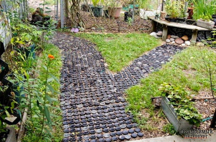Садовые дорожки своими руками из подручных материалов фото